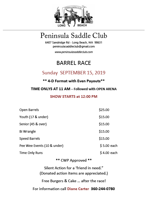 PSC BARREL RACE 9.15.19